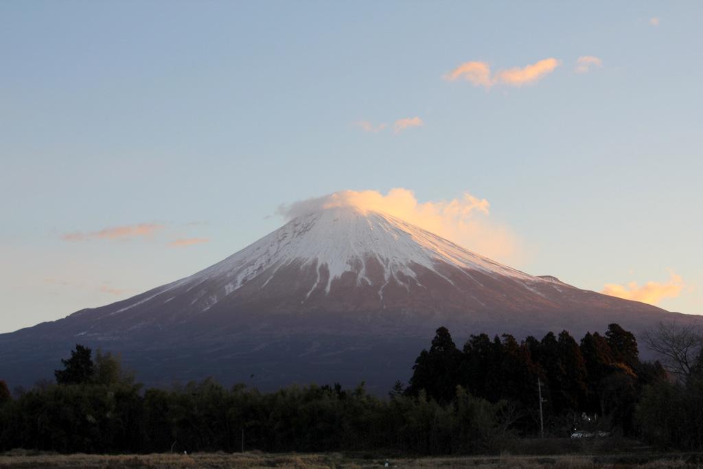 2015年元旦の朝の富士山